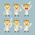 Doctor character set cartoon Stock Images