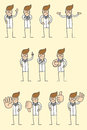 Doctor character various poses Royalty Free Stock Image