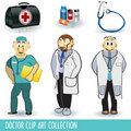 Doctor clip art collection Royalty Free Stock Photo