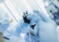 Doctor conducting medical endoscopy procedures Royalty Free Stock Photo