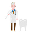 Doctor dentist illustration of on white background Stock Photos
