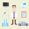 Doctor with equipment vector illustration of Stock Images
