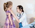 The doctor examines the child Stock Photography