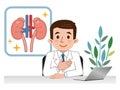 Doctor explaining the kidneys