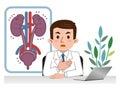 Doctor explaining sick urology