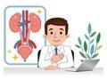 Doctor explaining urology