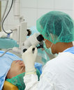 Doctor eye operation performing 图库摄影