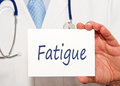 Doctor with Fatigue sign Royalty Free Stock Photo