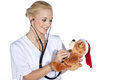 Doctor female children in investigation beautiful Royalty Free Stock Photography