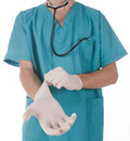 Doctor gloves Royalty Free Stock Photo