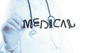 Doctor hand drawing design word MEDICAL DOCTOR Royalty Free Stock Photo