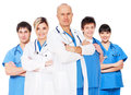 Doctor and his team Royalty Free Stock Photo