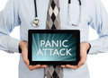 Doctor holding tablet - Panic attack Royalty Free Stock Photo