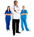 Doctor leading a group Stock Images