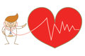 Doctor listen to heart beat Stock Images