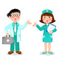 Doctor and nurse Royalty Free Stock Photo