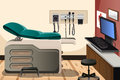 Doctor office a vector illustration of with copyspace Stock Photo