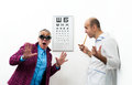 Doctor ophthalmologist patient funny Stock Images