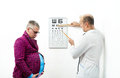 Doctor ophthalmologist pregnant patient Royalty Free Stock Image