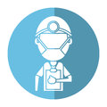 Doctor professional surgery mask hat clipboard shadow