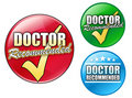 Doctor Recommended Logo Circles Stock Image