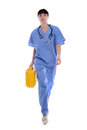 Doctor rushing to the emergency site Royalty Free Stock Image