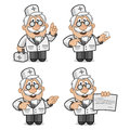 Doctor shows and tells illustration format eps Stock Image