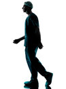 Doctor surgeon man walking silhouette Royalty Free Stock Photo