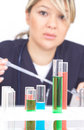 Doctor with test tubes Royalty Free Stock Photos