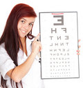 Doctor woman with optometry chart Stock Image