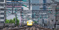 Doctor Yellow ,The high-speed test trains Royalty Free Stock Photo