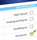Doctorate education level survey illustration design Stock Image