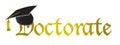 Doctorate hat graduation illustration Royalty Free Stock Photo