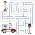 Doctors and Ambulance Maze for Kids