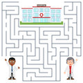 Doctors and Hospital Maze for Kids