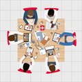 Doctors and Medical Professionals Meeting around Boardroom Table Royalty Free Stock Photo