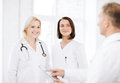 Doctors on a meeting healthcare and medical concept Royalty Free Stock Image