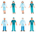 Doctors and nurses  Big group Stock Images