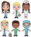 Doctors and Nurses set 1 Stock Photography