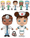 Doctors and Nurses set 2 Royalty Free Stock Images
