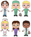 Doctors and Nurses set 3 Royalty Free Stock Photos