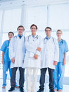 Doctors standing together at hospital Stock Photography