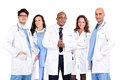 Doctors team group of isolated against a white background Stock Images