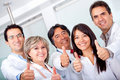 Doctors with thumbs up Royalty Free Stock Photo