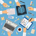 Doctors workplace concept
