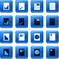 Document buttons Royalty Free Stock Photography