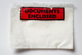 Document enclosed close up still life image of a envelope Stock Photo
