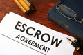 Document escrow agreement. Royalty Free Stock Photo
