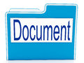 Document on file meaning organizing means and paperwork Stock Photo