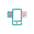Document files icon on smartphone screen vector illustration. Royalty Free Stock Photo